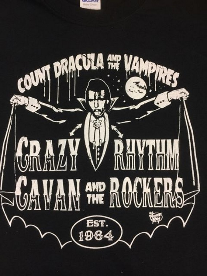 NEW! COUNT DRACULA/CRAZY CAVAN T SHIRT