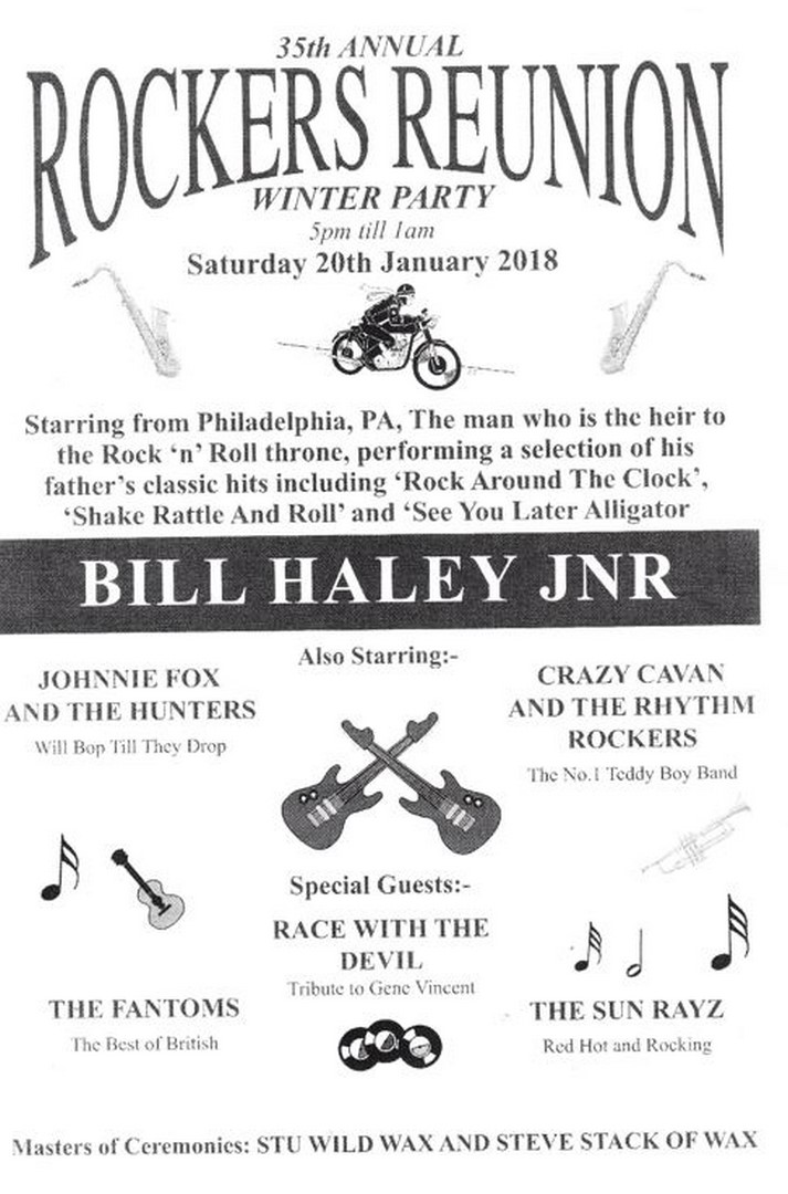 Rockers Reunion 2018 Flyer